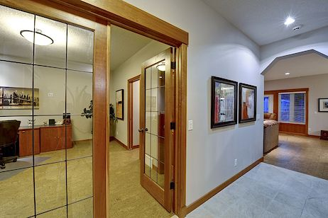 French doors leading to the office
